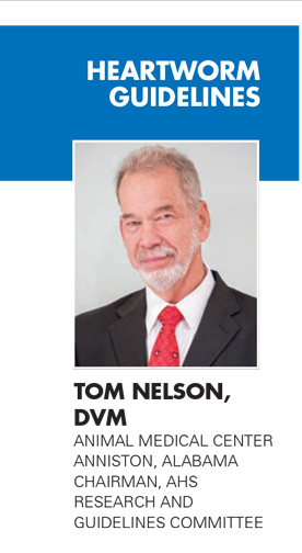 TOM NELSON, DVM, ANIMAL MEDICAL CENTER, ANNISTON, ALABAMA, CHAIRMAN, AHS, RESEARCH AND GUIDELINES COMMITTEE